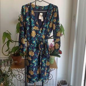 NWT Jcrew floral wrap dress size 6